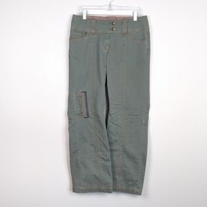 CAbi Military Green Cargo Pants Style 675 Size 8